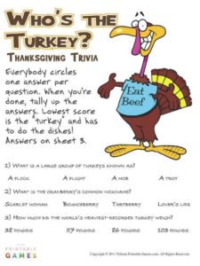 photograph about Printable Party Games for Adults known as Perfect Printable Bash Online games For Thanksgiving, Xmas, Fresh