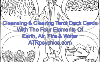 Cleansing & Clearing Tarot Deck Cards With The Four Elements Of Earth, Air, Fire & Water