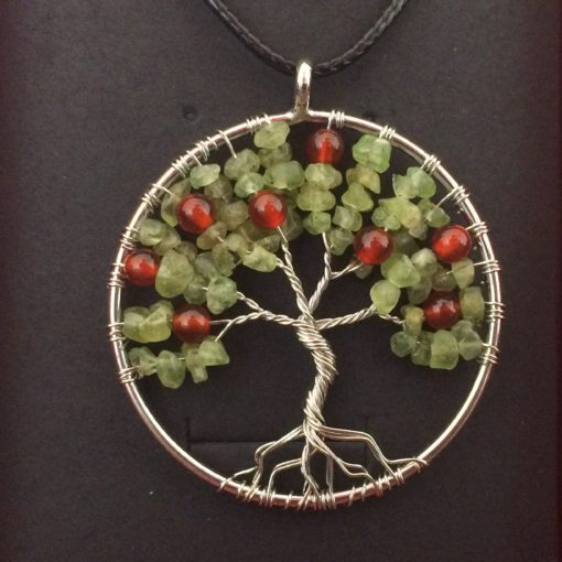 Cherry Tree Of Life Necklace, Heart Chakra, handmade spiritual gifts traverse city Michigan