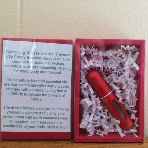 Traverse City Cherry Aura Blessing Spray. Handmade Spiritual Gifts In Michigan