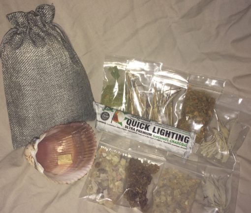 Psychic Spiritual Starter Kit Charcoal Herbal Resin Incense Sampler