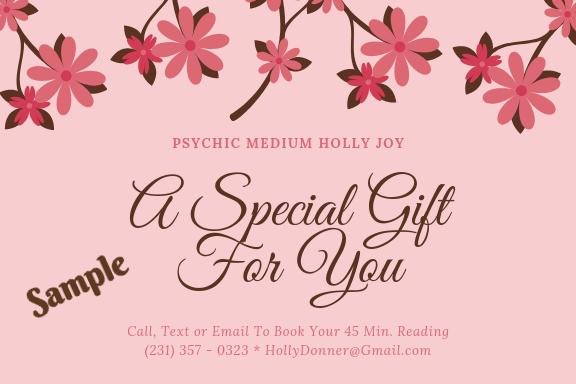 Spiritual Gift Certificates, Northern Michigan Psychic Medium Readings & Reiki