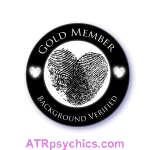 psychic website seal thumbtack Gold Member with background check verified