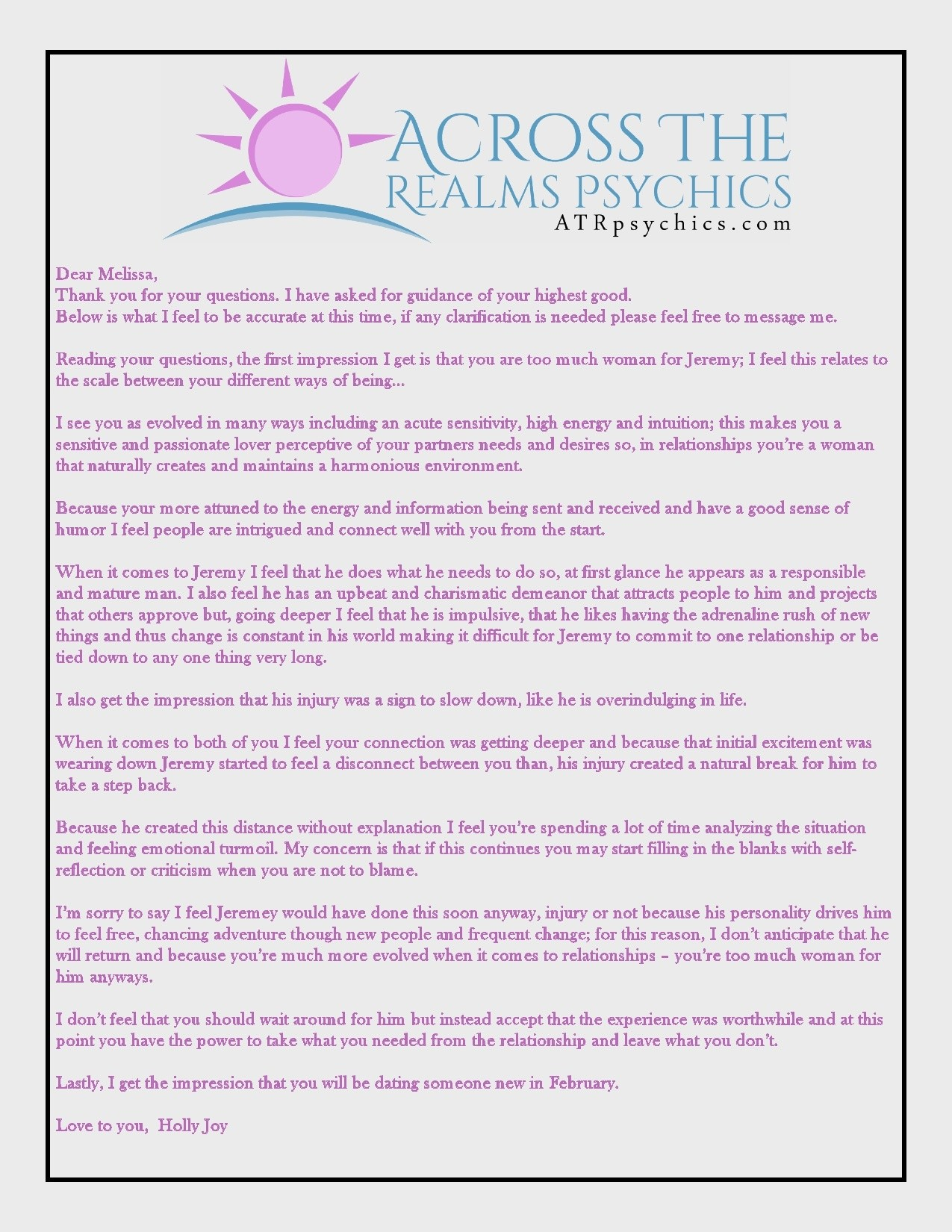 Online Psychic Email Readings